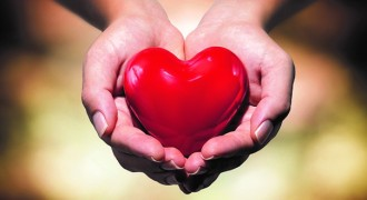 main donne un coeur